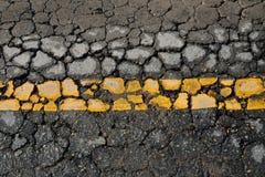 Δρόμος ρωγμών Στοκ Εικόνες