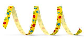 Κίτρινη διανυσματική ταινία εγγράφου με τα χρωματισμένα σημεία - χτύπημα έξω απεικόνιση αποθεμάτων