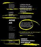 Κίτρινη επιλογή κειμένων δεικτών στο μαύρο διανυσματικό σύνολο Στοκ εικόνες με δικαίωμα ελεύθερης χρήσης