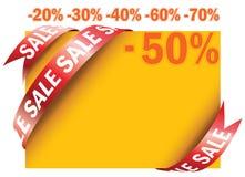 Κίτρινη ετικέττα πώλησης    Στοκ φωτογραφία με δικαίωμα ελεύθερης χρήσης