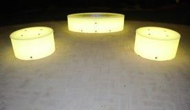 Κίτρινη ελαφριά πυράκτωση καθισμάτων Στοκ Εικόνες