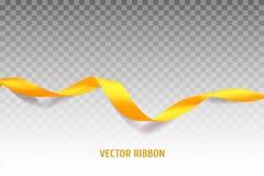 Κίτρινη διανυσματική κορδέλλα ελεύθερη απεικόνιση δικαιώματος