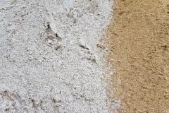 Κίτρινη και άσπρη άμμος Στοκ φωτογραφίες με δικαίωμα ελεύθερης χρήσης