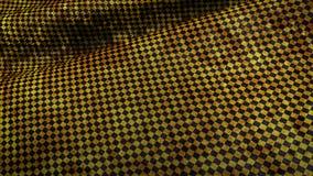 κίτρινη και μαύρη διαιρεσμένη σε τετράγωνα grundge σημαία φυλών Στοκ Εικόνες