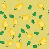 Κίτρινη και πράσινη άνευ ραφής σύσταση 606 πιπεριών Στοκ Φωτογραφίες