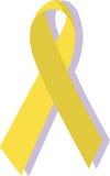 Κίτρινη κορδέλλα  στρατιωτική υποστήριξη Στοκ φωτογραφία με δικαίωμα ελεύθερης χρήσης