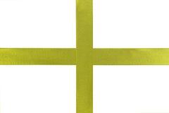 Κίτρινη κορδέλλα δώρων Στοκ φωτογραφίες με δικαίωμα ελεύθερης χρήσης