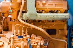 Κίτρινη μηχανή diesel Στοκ φωτογραφία με δικαίωμα ελεύθερης χρήσης
