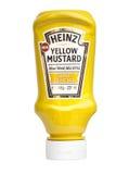 Κίτρινη μουστάρδα της Heinz στοκ εικόνες με δικαίωμα ελεύθερης χρήσης