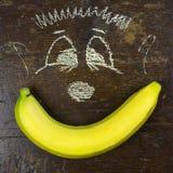 Κίτρινη μπανάνα και σχεδιασμός παιδιών Στοκ φωτογραφία με δικαίωμα ελεύθερης χρήσης