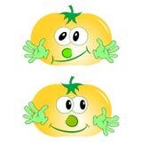 Κίτρινη ντομάτα ελεύθερη απεικόνιση δικαιώματος