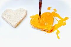 Κίτρινη ογκομετρική καρδιά Στοκ φωτογραφία με δικαίωμα ελεύθερης χρήσης