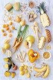 Κίτρινη ομάδα τροφίμων Στοκ εικόνα με δικαίωμα ελεύθερης χρήσης