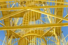 Κίτρινη δομή χάλυβα Στοκ φωτογραφία με δικαίωμα ελεύθερης χρήσης