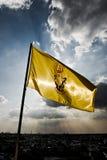 Κίτρινη σημαία της Ταϊλάνδης στοκ φωτογραφία με δικαίωμα ελεύθερης χρήσης