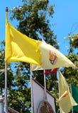 Κίτρινη σημαία στοκ φωτογραφία με δικαίωμα ελεύθερης χρήσης