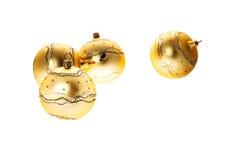 Κίτρινη σφαίρα Χριστουγέννων Στοκ Εικόνα
