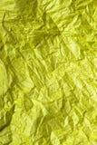 Κίτρινη σύσταση εγγράφου ιστού για το υπόβαθρο Στοκ Φωτογραφίες