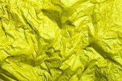 Κίτρινη σύσταση εγγράφου ιστού για το υπόβαθρο Στοκ εικόνες με δικαίωμα ελεύθερης χρήσης