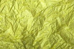 Κίτρινη σύσταση εγγράφου ιστού Στοκ φωτογραφίες με δικαίωμα ελεύθερης χρήσης