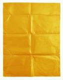 Κίτρινη σύσταση εγγράφου στο άσπρο υπόβαθρο Στοκ εικόνες με δικαίωμα ελεύθερης χρήσης