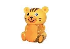 Κίτρινη τίγρη: piggy τράπεζα Στοκ Φωτογραφία