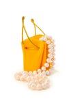 Κίτρινη τσάντα δώρων Στοκ φωτογραφίες με δικαίωμα ελεύθερης χρήσης
