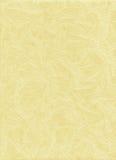 Κίτρινη χειροποίητη σύσταση εγγράφου Στοκ Φωτογραφία
