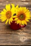 Κίτρινοι ηλίανθοι στοκ εικόνα με δικαίωμα ελεύθερης χρήσης