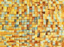 Κίτρινοι μπλε και κόκκινος, κιβώτια, τρισδιάστατη απεικόνιση renderingabstract, υπόβαθρο, ελεύθερη απεικόνιση δικαιώματος