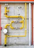 Κίτρινοι σωλήνες Στοκ Εικόνες