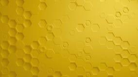 Κίτρινος αφηρημένος Hexagon γεωμετρικός άνευ ραφής βρόχος 4K UHD επιφάνειας απεικόνιση αποθεμάτων