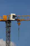 Κίτρινος γερανός κατασκευής Στοκ εικόνες με δικαίωμα ελεύθερης χρήσης