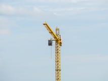 Κίτρινος γερανός Στοκ εικόνα με δικαίωμα ελεύθερης χρήσης