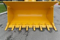 Κίτρινος κάδος Στοκ φωτογραφία με δικαίωμα ελεύθερης χρήσης