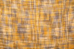 Κίτρινος και γκρίζος γεωμετρικός πλέκει το υπόβαθρο Στοκ Φωτογραφίες
