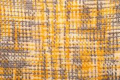 Κίτρινος και γκρίζος γεωμετρικός πλέκει το υπόβαθρο Στοκ Εικόνες