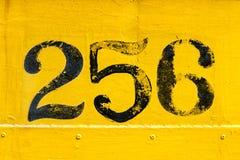 Κίτρινος και μαύρος αριθμός 256 Στοκ Φωτογραφία