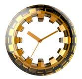 Κίτρινος-και-μαύρο τυποποιημένο ρολόι Ελεύθερη απεικόνιση δικαιώματος