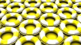 Κίτρινος κολυμπήστε τα δαχτυλίδια στο κίτρινο υπόβαθρο ελεύθερη απεικόνιση δικαιώματος