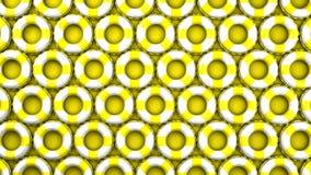 Κίτρινος κολυμπήστε τα δαχτυλίδια στο κίτρινο υπόβαθρο απεικόνιση αποθεμάτων