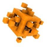 Κίτρινος κύβος ελεύθερη απεικόνιση δικαιώματος