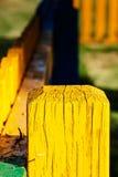 Κίτρινος ξύλινος μετα στενός επάνω Στοκ φωτογραφία με δικαίωμα ελεύθερης χρήσης
