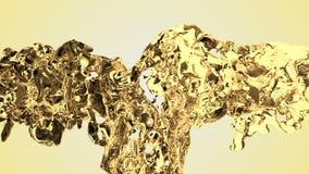 Κίτρινος παφλασμός νερού με τις φυσαλίδες του αέρα με το άσπρο υπόβαθρο φιλμ μικρού μήκους