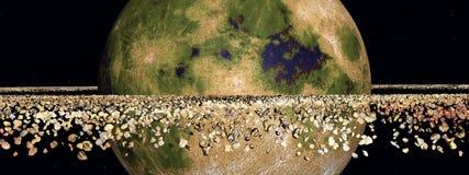 Κίτρινος πλανήτης διανυσματική απεικόνιση