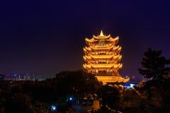 Κίτρινος πύργος γερανών σε Wuhan, Κίνα Στοκ Εικόνες