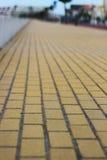 Κίτρινος δρόμος τούβλου Στοκ εικόνα με δικαίωμα ελεύθερης χρήσης