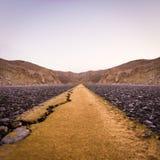 Κίτρινος δρόμος Στοκ Φωτογραφίες