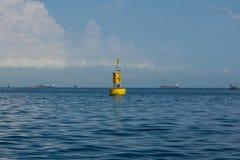 Κίτρινος σημαντήρας Στοκ Φωτογραφία