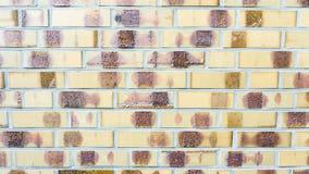 Κίτρινος τοίχος πλινθοδομής Στοκ Εικόνες